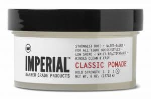 Imperial barber style for hair