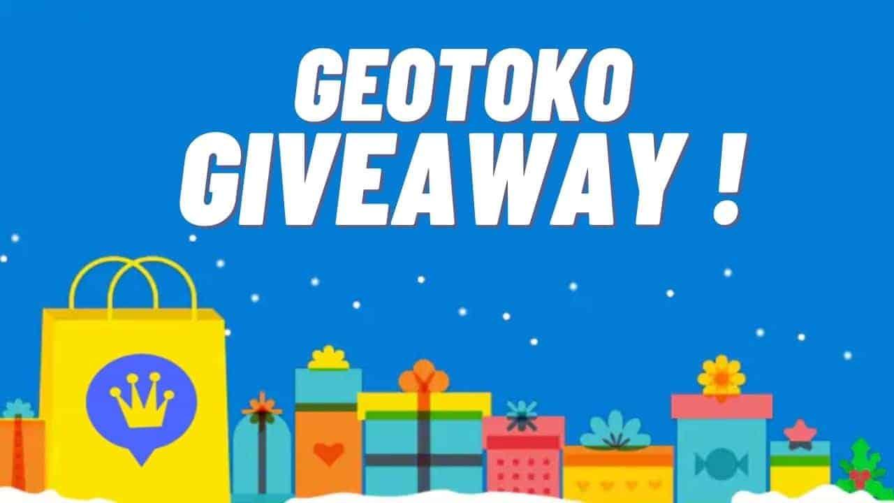 geotoko giveaway win prize